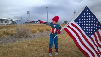 My son, Captain America
